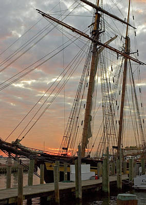 Photograph - Sunrise Over Pride Of Baltimore II by Mark Duehmig