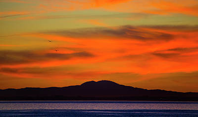 Photograph - Sunrise Over Santa Monica Bay by John Rodrigues