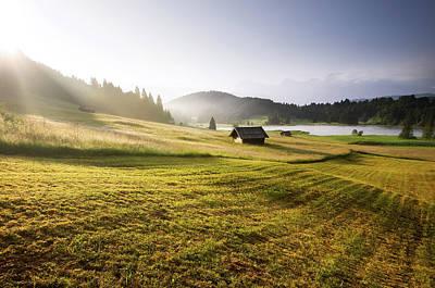 Photograph - Sunrise Over The Bavarian Alps by Maximilian Zimmermann, Germany