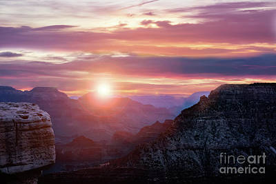 Photograph - Sunrise Over The Canyon by Ed Taylor
