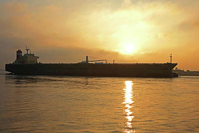 Photograph - Sunrise Over The Mississippi River New Orleans Louisiana La by Toby McGuire