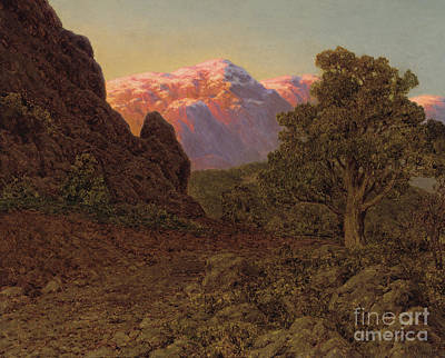 Painting - Sunrise Over The Mountain by Ivan Fedorovich Choultse