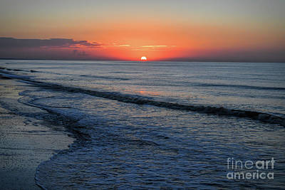 Photograph - Sunrise Over The Ocean - Ocean Isle Beach North Carolina by Kerri Farley