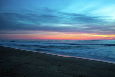 Art Print featuring the photograph Sunrise Over The Outer Banks by Lora J Wilson