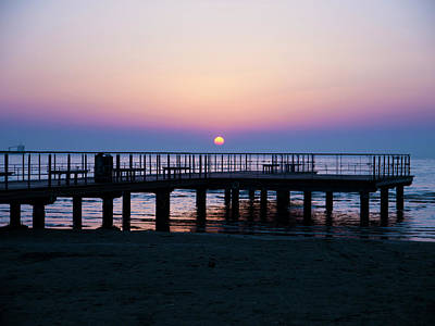 Photograph - Sunrise Over The Pier by Rae Tucker