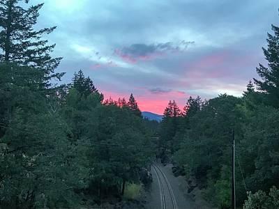 Modern Kitchen - Sunrise over the train tracks by Brian Jones