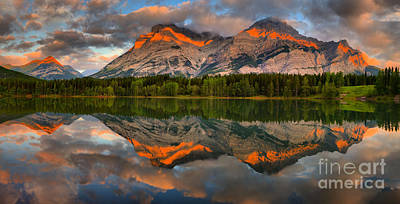 Photograph - Sunrise Reflections At Wedge Pond Panorama by Adam Jewell