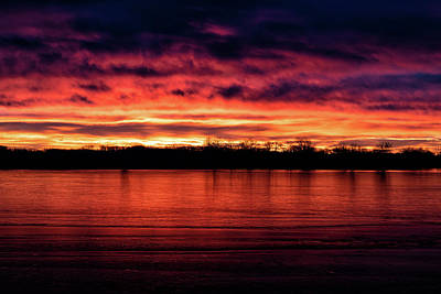 Photograph - Sunrise Sets The Sky And Ice On Fire by Tony Hake