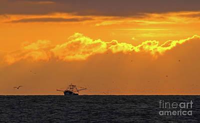 Photograph - Shrimp Boat At Dawn by Kevin McCarthy