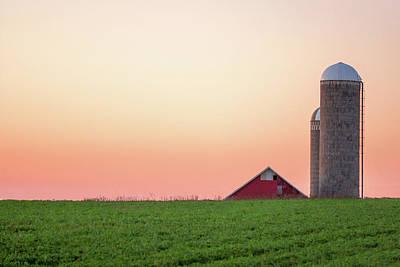 Photograph - Sunrise Silos by Todd Klassy