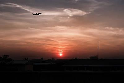 Lee Craker Royalty-Free and Rights-Managed Images - Sunrise, Smog, Bangkok, Thailand. by Lee Craker