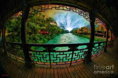 Photograph - Sunrise Though The Nan Qiao Covered Bridge Chuzhou China by Blake Richards