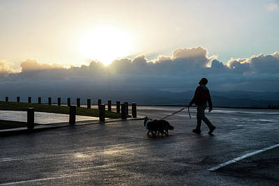 Photograph - sunrise visitors at Astoria Column by Tom Cochran
