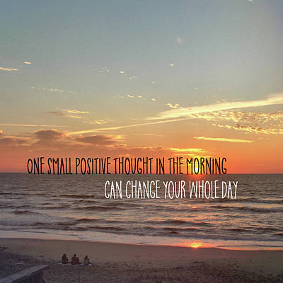 Photograph - Sunrise Wishing Quote by Jamart Photography