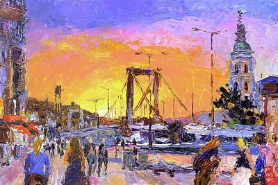 Painting - Sunset Above Elisabeth Bridge by Judith Barath