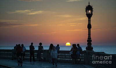Photograph - Sunset At Alameda Promenade Cadiz Spain by Pablo Avanzini