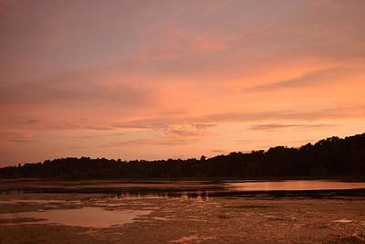 Fine Dining - Sunset at Alligator Lake by RD Erickson