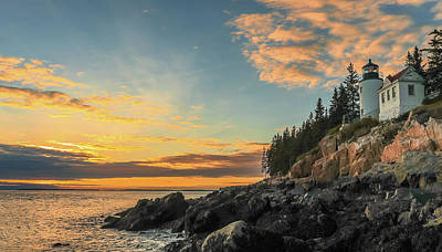 Photograph - Sunset At Bass Harbor Lighthouse by Dan Sproul