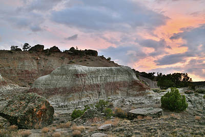 Photograph - Sunset At Bentonite Site Along Little Park Road by Ray Mathis