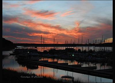 Wall Art - Photograph - Sunset At Canyon Lake Marina by Carolyn Hebert