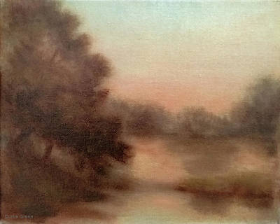 Painting - Sunset At Central Park by Curtis Green
