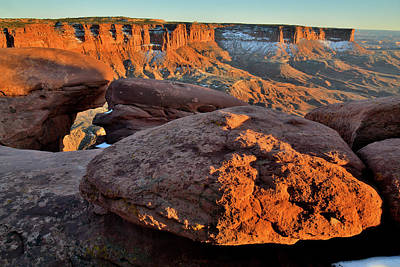 Photograph - Sunset At Green River Overlook In Canyonlands by Ray Mathis