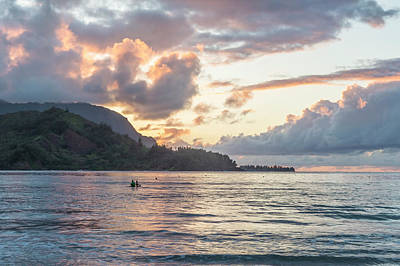 Photograph - Sunset At Hanalei Bay, No. 3 by Belinda Greb