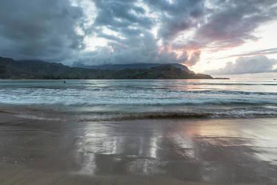 Photograph - Sunset At Hanalei Bay, No. 4 by Belinda Greb
