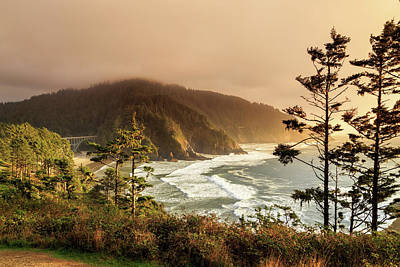 Photograph - Sunset At Heceta Head by James Eddy