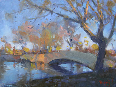 Hyde Park Wall Art - Painting - Sunset At Hyde Park  by Ylli Haruni