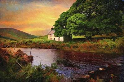 Photograph - Sunset At Lake. Rural Ireland. Wicklow by Jenny Rainbow
