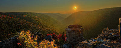 Photograph - Sunset At Lindy Point Near Blackwater Falls Panorama by Dan Friend
