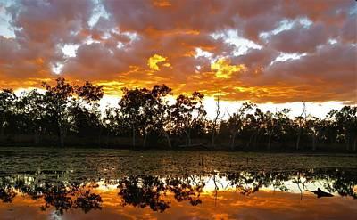 Photograph - Sunset At Minnamoolka 2 by Joan Stratton