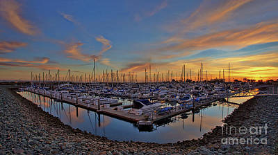 Photograph - Sunset At Pier 32 Marina In National City, California by Sam Antonio Photography