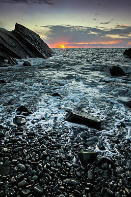 Photograph - Sunset At Quarry Bay, Port Logan by Peter OReilly