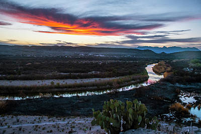 Photograph - Sunset At Rio Grande Village by Matthew Irvin