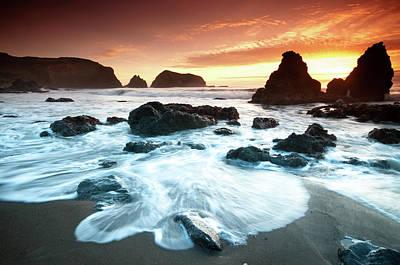 Photograph - Sunset At Rodeo Beach by Can Balcioglu
