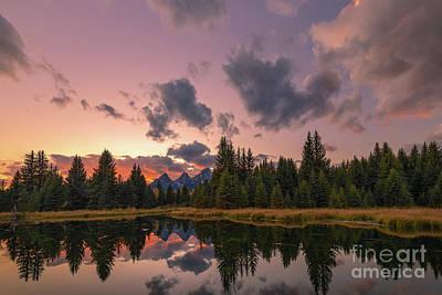 Photograph - Sunset At Schwabachers Landing by Doug Sturgess