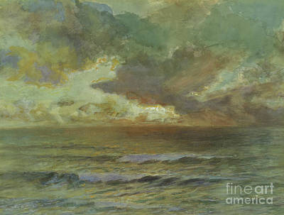 Painting - Sunset At Seascale by Joseph Arthur Palliser Severn