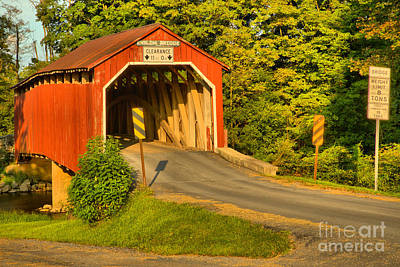 Photograph - Sunset At The Enslow Covered Bridge by Adam Jewell