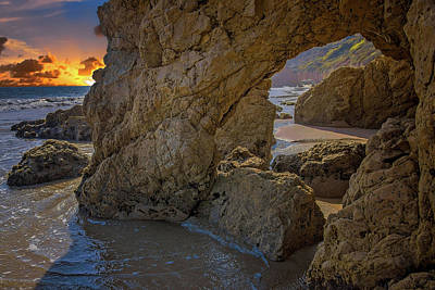 Photograph - Sunset At The Rock Caves by Lynn Bauer
