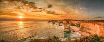 Photograph - Sunset At The Twelve Apostles by Chris Cousins