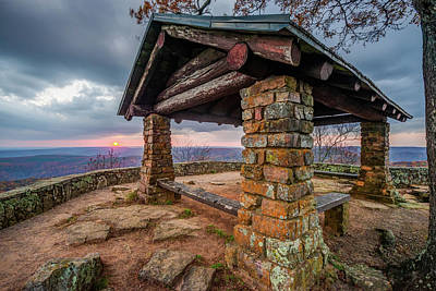 Photograph - Sunset At White Rock Mountain National Recreation Area Scenic Overlook by Gregory Ballos