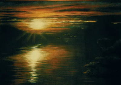 Drawing - Sunset by Barbara Keith