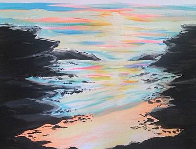 Painting - Sunset Beach by Lisa Bunsey