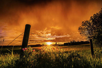 Photograph - Sunset Behind Rain by Dixon Pictures