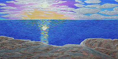 Painting - Sunset Blessing by Michelle Vyn