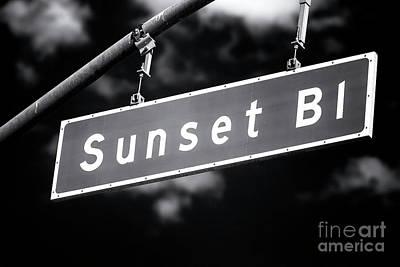 Photograph - Sunset Boulevard Noir by John Rizzuto