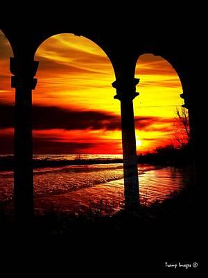 Photograph - Sunset Breaking Me by Wesley Nesbitt
