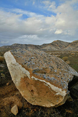 Photograph - Sunset Clouds Over Book Cliff Boulder by Ray Mathis